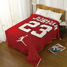 NEW Jordan Blanket Soft Boys Super Soft Flannel Jordan Bed Sheet Size 130X150 CM