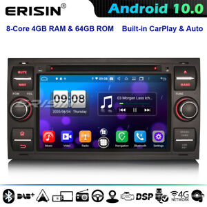 8-Core DSP Android 10 Car Stereo Ford S/C-Max Galaxy Fiesta Fusion FOCUS Mondeo