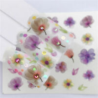 3D Nail Art Transfer Stickers 1 Sheets Flower Decals Manicure Decoration Tips