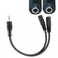 """6"""" Stereo 3.5mm Y/Splitter Male~2*Female Audio/Headphone/  adapter Cable/Cord{ER"""