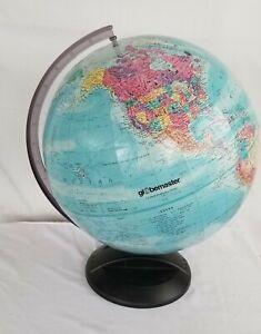 Globemaster 12 inch Diameter Globe Rotating Black Base Globe Raised