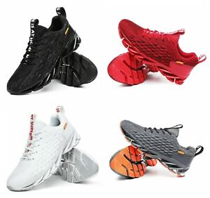Men Sport Breathable fashion knit Blade shoes casual running sneakers for men