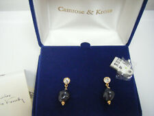 Camrose & Kross Jacqueline Kennedy Black Pearl & Crystal Dangle Earrings BOXED