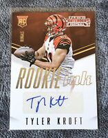 Tyler Kroft Autograph Card Auto Rookie Ink 2015  Contenders Bengals RC