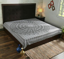 Mandala Multi White Color Print Tapestry Wall Hanging Decor QueenSize Bedspread