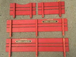 Vintage Parts - Radio Flyer Town and Country Wagon Wood Side Rails Slats Set