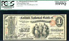 1875, $1 Fr 380 #659-Nb-Pcgs 55-Finest Ace In Census From All 20 Series