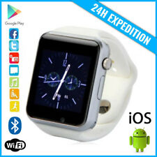 Original A1/W8 Smart Watch Montre Facebook Bluetooth SIM Slot Android iOS White