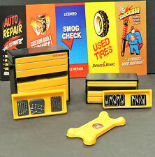 CRAFTMASTER YELLOW TOOL BOXES + TOOLS + FREE CREEPER+DECAL (G) SCALE MINIATURE!
