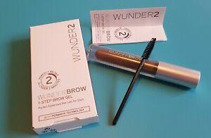 RRP £20 Brand New WUNDER2 WUNDERBROW Extra Long-Lasting Eyebrow Gel Black/Brown