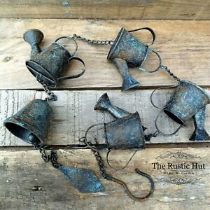 Watering Can Rain Chain with Bell Hanging Garden Ornament