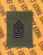 US ARMY Enlisted SERGEANT MAJOR SGM E-9 OD Sew On rank patch single