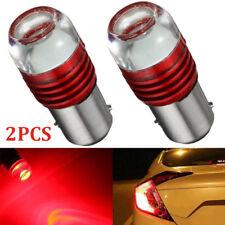 2pcs Strobe Flashing Red 1157 2357 LED Lamp Auto Tail Brake Light Projector Bulb