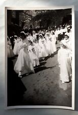 1960s B/W Photograph. Little Girls in White Dresses. First Holy Communion, Italy