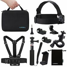 LuxeBell Accessoires Kit pour Sony Action Camera HDR-AS15 Support Vélo Sangle De Poitrine