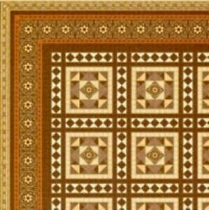 Melody Jane Dolls House Miniature Victorian Tile Effect Paper Flooring 1:24