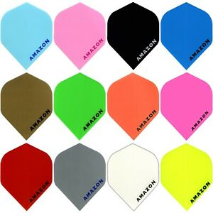 Amazon Plain Standard Dart Flights 1-10 Sets Tough Solid Colours Thick