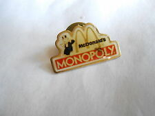 Cool Vintage McDonalds Restaurant Monopoly Game Advertising Employee Pin Pinback