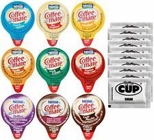 Coffee Mate  Non-Dairy Liquid Creamer Singles 9 Flavor Assortment Pack of 36