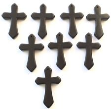 8PCS Fine Gemstone Black Onyx  Cross charms-Pendant Beading Supplies