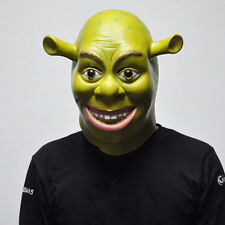 Halloween Popular Cosplay Adults Shrek Fancy Dress Costume Latex Mask TOYS