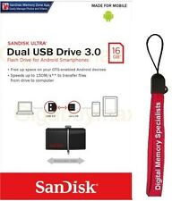 SanDisk 16GB OTG USB 3.0 Ultra Dual 16G microUSB 130MB/s SDDD2-016G +Lanyard
