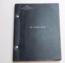 THE PEACOCK SEASON / Otis Bigelow 1962 Broadway Play Script Comedy