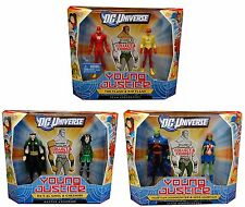 DC UNIVERSE YOUNG JUSTICE ACTION FIGURE TOY 2-PK-SET OF 3-FLASH MARTIAN AL GHUL