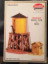 Model Power Water Tower and Shed HO Scale- New