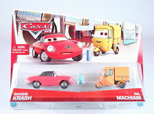 DISNEY CARS Allinol Blowout 2 Pack SHAWN KRASH + sal MACHIANI 1:55 Diecast Toys