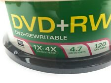 Verbatim 94834 Blank 4X DVD+RW 4.7GB Rewritable DVD Disc 30 Pack Sealed NOS