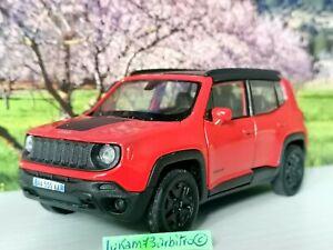 JEEP Renegade Trailhawk SUV Arancione con Nero Dach Nuova New Scala 1:36 1:32ca