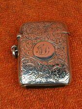 More details for antique sterling silver hallmarked large vesta case sirus 1900, horton & allday