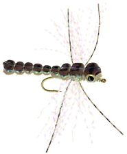 Fly Fishing Flies (Bass, Sunfish, Trout) Gorilla Damsel Dragonfly Brown (x6)