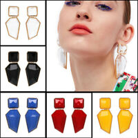 Acrylic Geometric Statement Big Drop Dangle Earrings Women Ear Studs JewelryFU