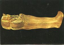 Vecchia cartolina Arte-Tutankhamen 's Treasures-Coffin in the form of Osiris