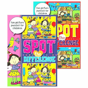 A4 Spot the Difference Activity Book - Puzzle Books Kids Children Fun Journeys