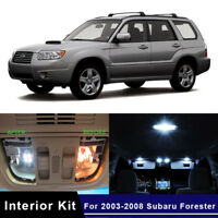 8x White LED Car Interior Lights Bulbs Package Kit For 2003-2008 Subaru Forester