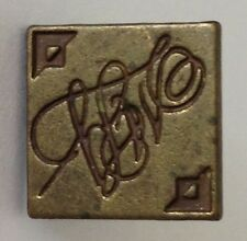 Caligraphy Pin Badge Rare Vintage (H10)
