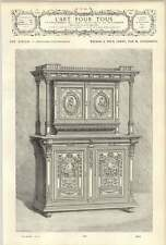 1882 Sideboard Furniture In Two Parts M Fourdinois 19th-century