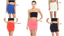 New Women's Strectch Boldycon Solid Mini Skirt