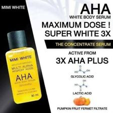 2 x 30ml FAST WHITENING BODY SERUM AHA BRIGHTENING SKIN MIXED VITAMINS C&B