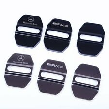 ABS Door Lock Buckle Cover Trim For Mercedes Benz E C B M Class GLK CLA AMG 4PCS