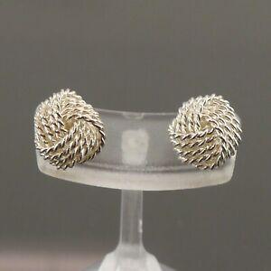 Authentic Tiffany & Co. Twist Knot  Earrings 925 Sterling Silver #f70298