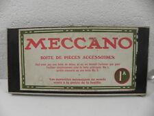 MECCANO BOITE 1A année 1911 Meccano limited LIVERPOOL Anglet  TRES RARE !!!