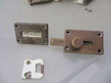 Vintage Brass Lock Vintage Engaged Vacant Bathroom Lock Pub Antique Old Catch
