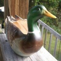 """Mallard"" Duck Planter C5359 Vintage Napcoware Ceramic Fall Country Nature Decor"