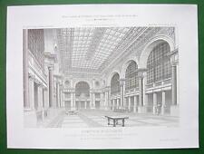 ARCHITECTURE PRINT:  France Banque Nationale de Paris Lobby View