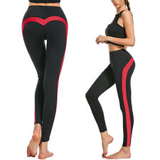 Plus Size Womens Yoga Sports Pants Gym Trousers Splice Leggings Fitness Pants
