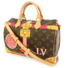 LOUIS VUITTON Speedy 30 Monogram Canvas Summer Trunk M41386 Handbag 2Way France